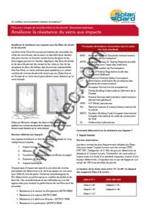 Filmatec bulletin technique norme films securite solar gard