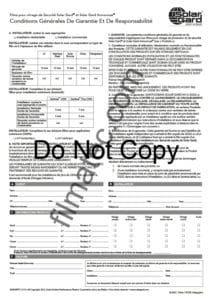 Filmatec formulaire conditions garantie solar gard